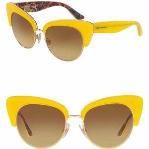 Dolce &Gabbana Yellow SICILIAN CARRETTO Sunglasses